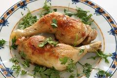 Pollo frito con perejil Imagen de archivo
