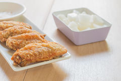 Pollo frito coreano Imágenes de archivo libres de regalías