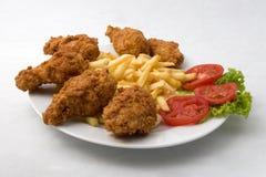 Pollo frito curruscante Fotos de archivo libres de regalías