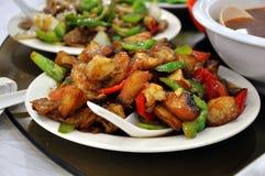 Pollo frito del Stir Foto de archivo libre de regalías