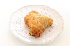 Pollo frito en plato fotos de archivo libres de regalías