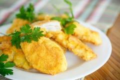Pollo frito en talud Fotos de archivo