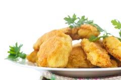 Pollo frito en talud Imagenes de archivo