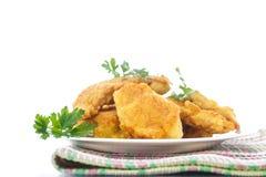Pollo frito en talud Imagen de archivo libre de regalías