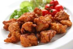 Pollo frito japonés Imágenes de archivo libres de regalías