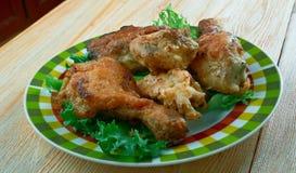 Pollo frito meridional fotos de archivo