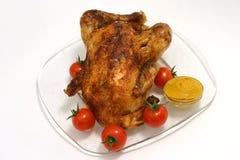 Pollo frito y mostaza Imagen de archivo libre de regalías