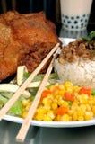 Pollo fritto asiatico Immagini Stock