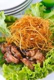 Pollo fritto con citronella Fotografia Stock