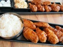 Pollo fritto coreano. Fotografie Stock Libere da Diritti