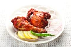 Pollo fritto, cucina asiatica Immagine Stock