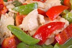 Pollo fritto di Stir e peperone dolce Fotografia Stock