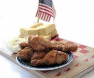 Pollo fritto e cornbread 3 Fotografia Stock