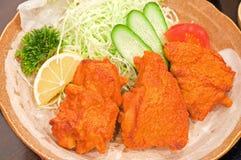 Pollo fritto giapponese (Toriage) Immagine Stock