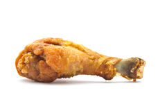 Pollo fritto isolato su priorità bassa bianca Fotografie Stock Libere da Diritti