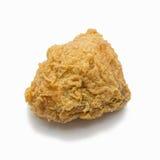 Pollo fritto isolato su priorità bassa bianca Fotografia Stock