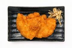 Pollo fritto nel grasso bollente Immagini Stock Libere da Diritti