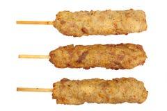 Pollo fritto nel grasso bollente Immagine Stock Libera da Diritti