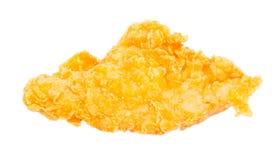 Pollo fritto nel grasso bollente isolato su fondo bianco Immagini Stock Libere da Diritti