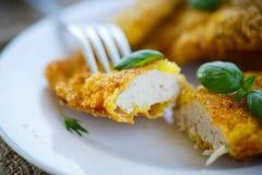 Pollo fritto in pastella Immagini Stock Libere da Diritti