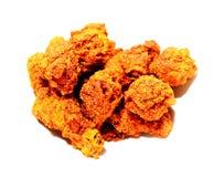 Pollo fritto in piatto, alimento tailandese Fotografie Stock