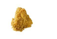 Pollo fritto su bianco Fotografie Stock