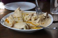 Pollo georgiano in salsa della noce Fotografia Stock