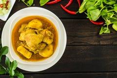 Pollo giallo del curry fotografia stock