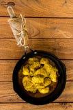 Pollo giallo del curry fotografia stock libera da diritti