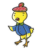 Pollo giallo Illustrazione di vettore dei bambini Immagini Stock Libere da Diritti