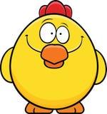 Pollo giallo sorridente Fotografia Stock