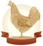 Pollo gráfico Imagen de archivo