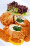 Pollo impanato Fotografie Stock