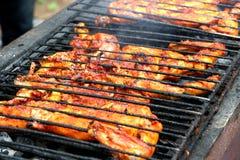 Pollo indiano del bbq Fotografie Stock