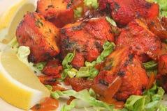 Pollo indiano Tikka Fotografie Stock Libere da Diritti