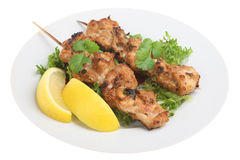 Pollo indiano Tikka Kebabs fotografia stock libera da diritti