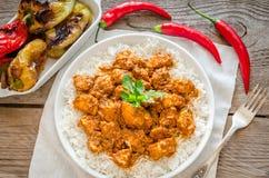 Pollo indio de la mantequilla Fotos de archivo