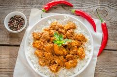 Pollo indio de la mantequilla Foto de archivo