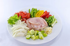 pollo infornato agrodolce Immagine Stock