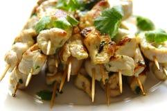 Pollo Kebabs Fotografia Stock