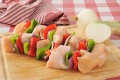 Pollo Kebabs Fotos de archivo libres de regalías