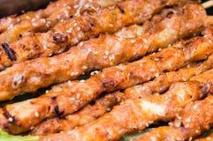 Pollo Kebabs Fotografia Stock Libera da Diritti