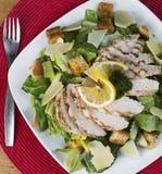 Pollo libero Caesar Salad del glutine delizioso Immagine Stock