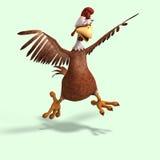 Pollo loco de la historieta Fotos de archivo libres de regalías