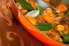 Pollo lustrato kumquat Fotografia Stock Libera da Diritti