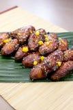 Pollo Midwing de Teriyaki Foto de archivo libre de regalías