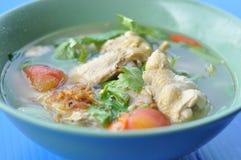 Pollo in minestra Fotografia Stock