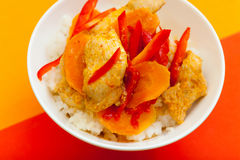 Pollo nell'asiatico Immagini Stock