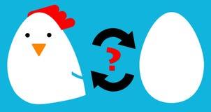 Pollo o huevo stock de ilustración