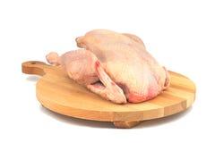 Pollo organico crudo Fotografie Stock Libere da Diritti